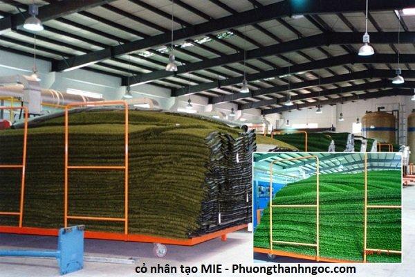 mỗi ngày công ty cho ra hàng trăm triệu mét cỏ nhân tạo phục vụ cho thị trường