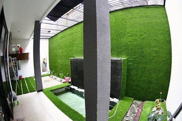 Cho thuê thảm cỏ nhân tạo trang trí