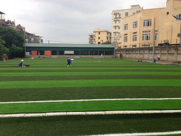 Thi công Sân bóng cỏ nhân tạo Học Viện Cảnh Sát Nhân Dân