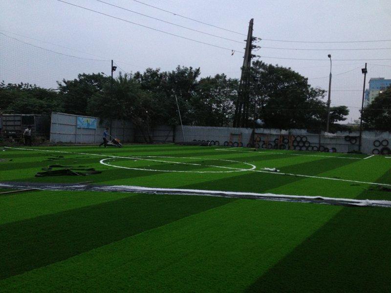 Thi công Sân bóng cỏ nhân tạo Đền Lừ 1 Hoàng Mai Hà Nội