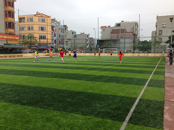 Dự án cỏ nhân tạo sân bóng tại Sala - Hà Đông - Hà Nội