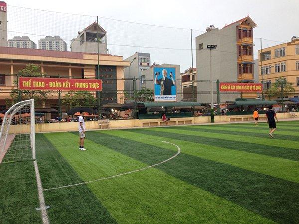 Dự án cỏ nhân tạo sân bóng tại Sala Hà Đông Hà Nội