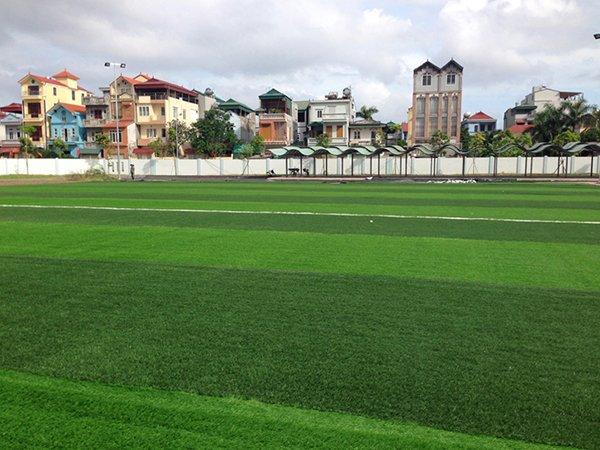 Thi công Sân bóng cỏ nhân tạo trường Phúc Lợi Long Biên Hà Nội
