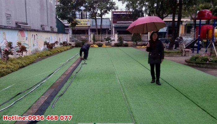 Bảo dưỡng cỏ nhân tạo tại Hưng Yên