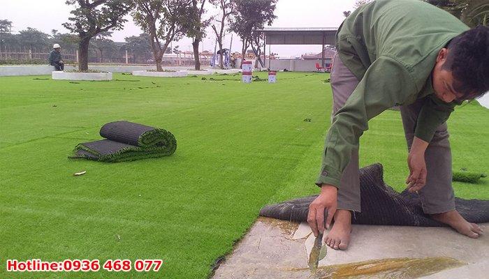 Thi công cỏ nhân tạo tại Nha Trang