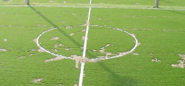 Thay mới cỏ nhân tạo cho sân bóng cũ