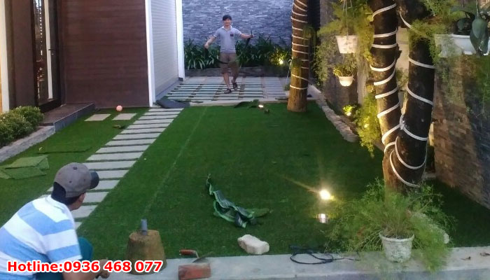 Thi công cỏ nhân tạo tại Hưng Yên