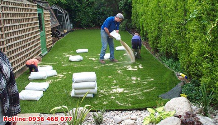 Thi công cỏ nhân tạo tại Vĩnh Phúc