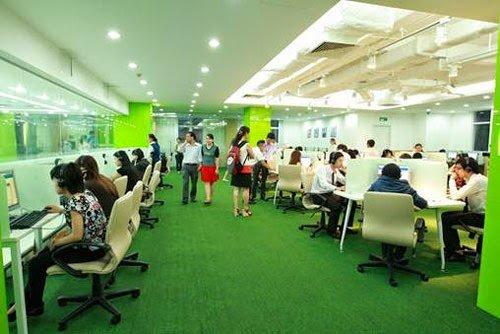 Ứng dụng cỏ nhân tạo trong trang trí văn phòng