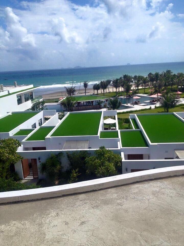 cỏ nhân tạo cảnh quan sân thượng