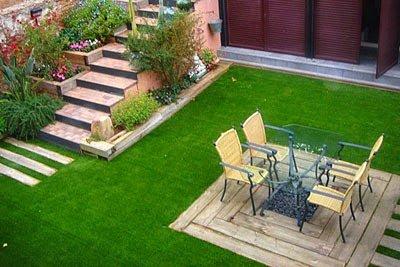 sân vườn cỏ nhân tạo