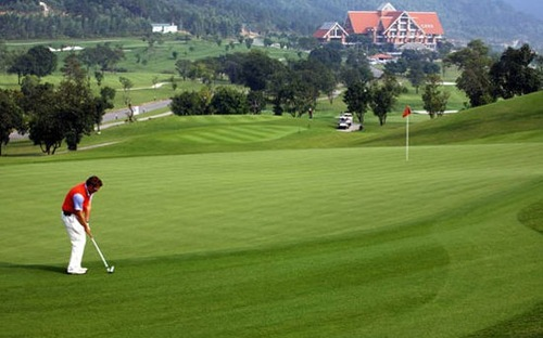 sân golf cỏ nhân tạo tiêu chuẩn, sân golf 18 lỗ