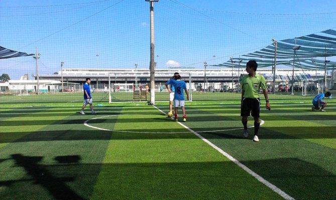 Sân bóng cỏ nhân tạo thủy lợi