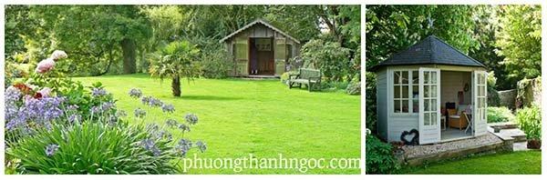 Cỏ nhân tạo sân vườn trong thiết kế vườn đẹp