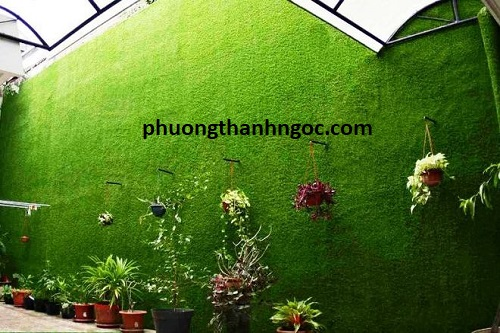 cỏ nhân tạo dán tường 02