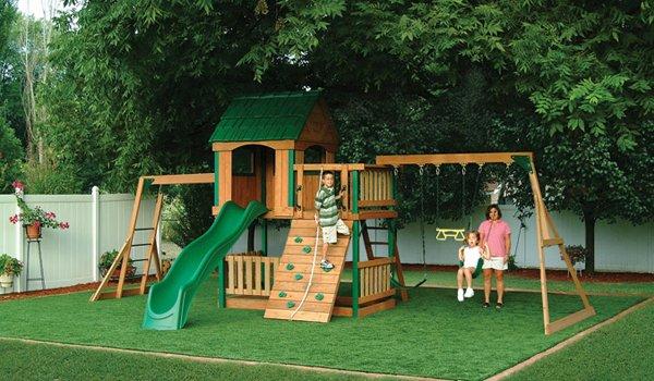 Cỏ nhân tạo sân vườn làm khu vui chơi