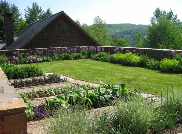 Cỏ nhân tạo sân vườn thiết kế phong thủy sân vườn